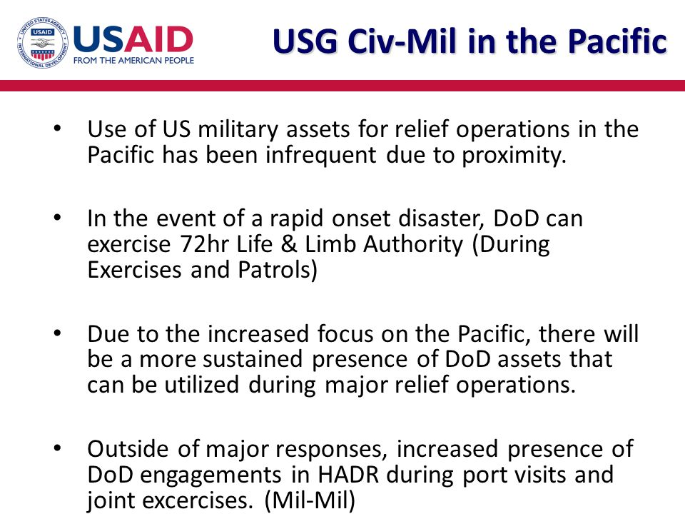 USG Civ-Mil in the Pacific