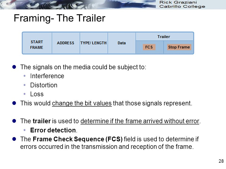 Framing- The Trailer The signals on the media could be subject to: