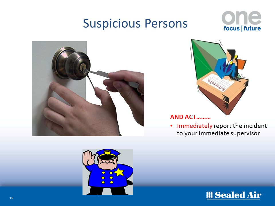 Suspicious Persons AND ACT………
