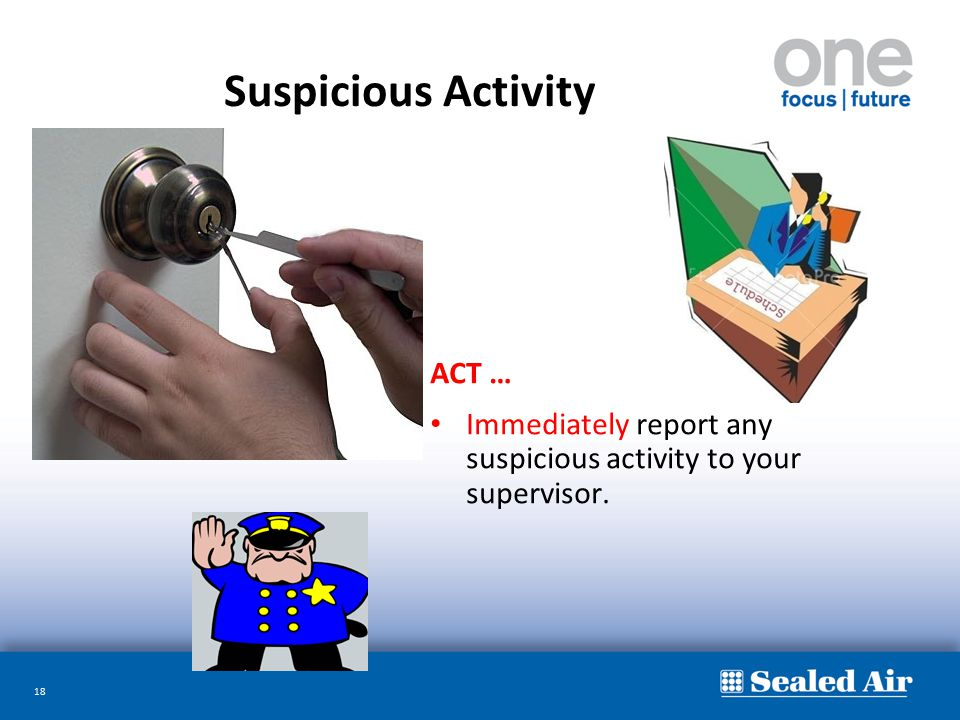 Suspicious Activity ACT …
