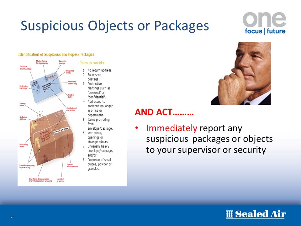Suspicious Objects or Packages