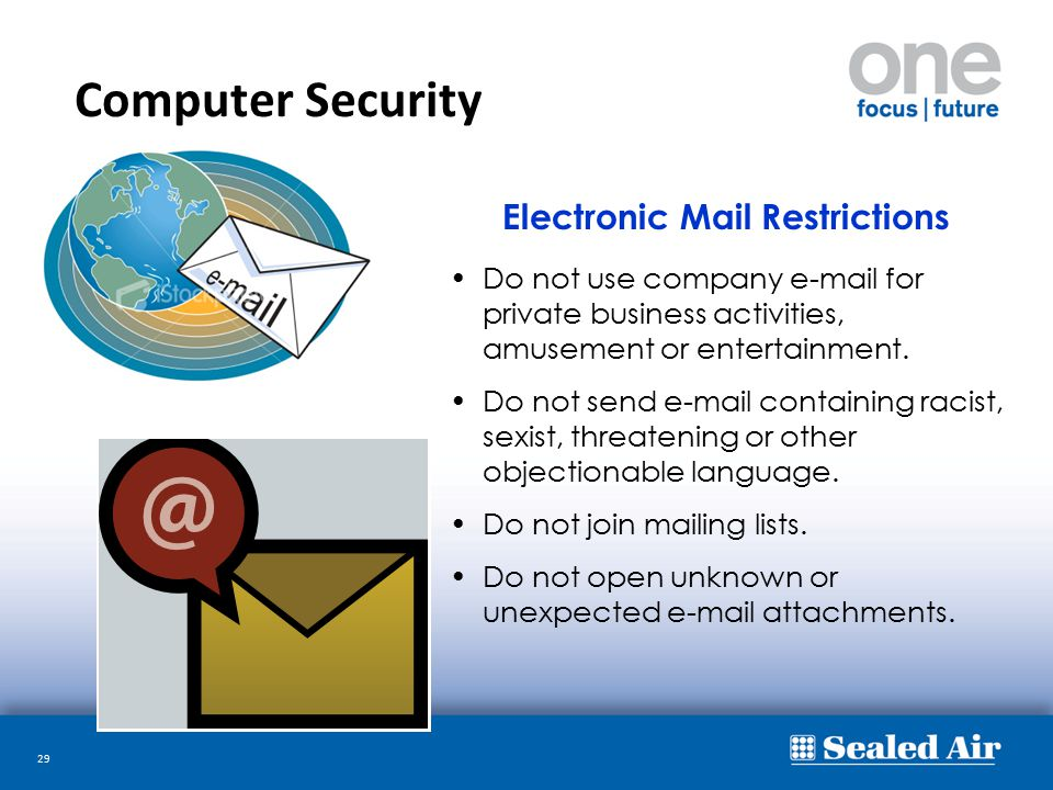 Computer Security Electronic Mail Restrictions