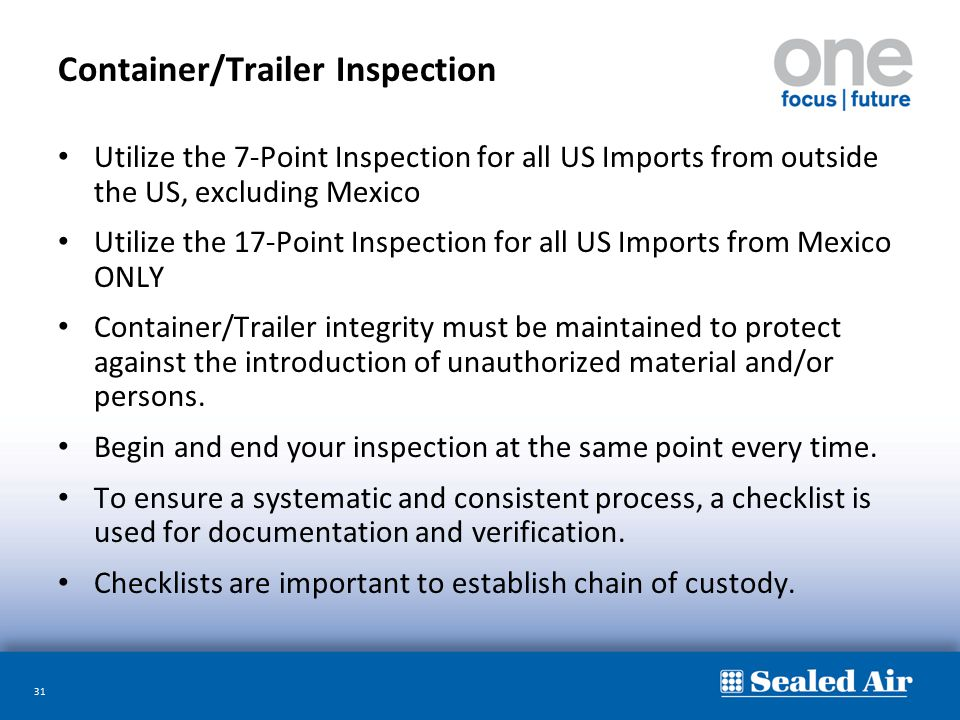 Container/Trailer Inspection