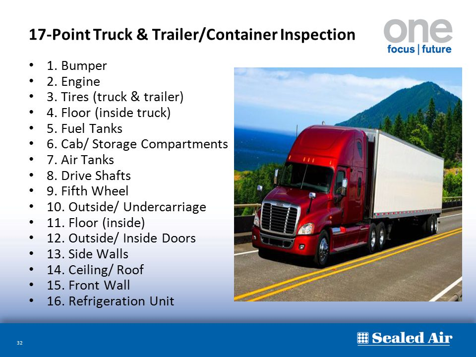 17-Point Truck & Trailer/Container Inspection