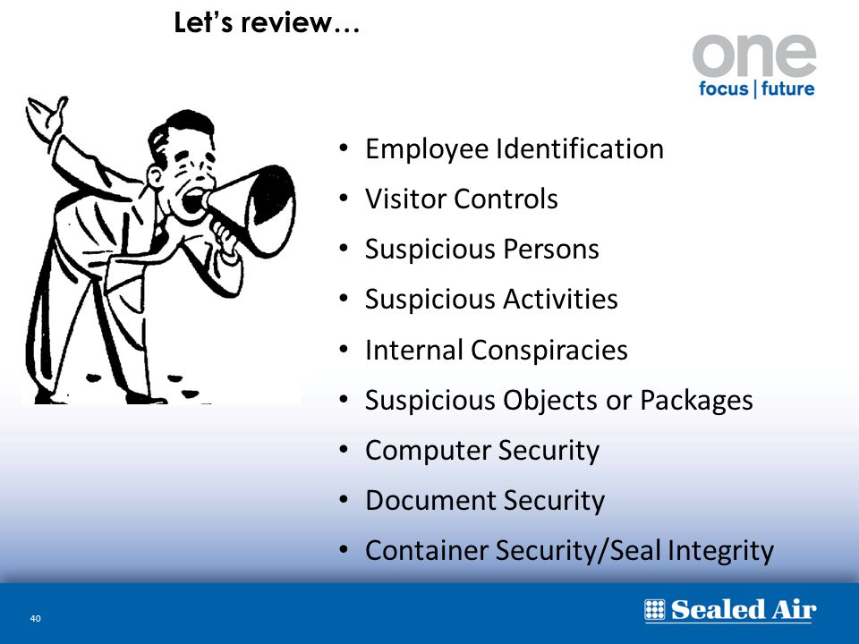 Employee Identification Visitor Controls Suspicious Persons