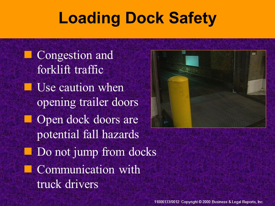 Loading Dock Safety Congestion and forklift traffic