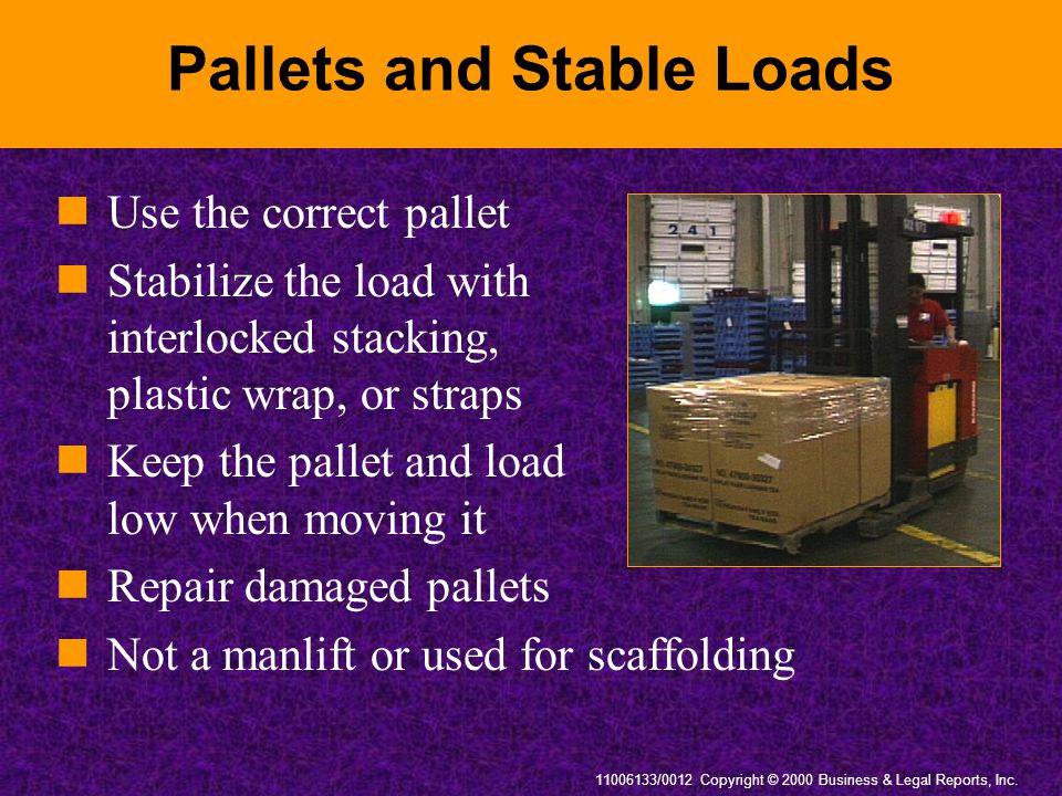 Pallets and Stable Loads