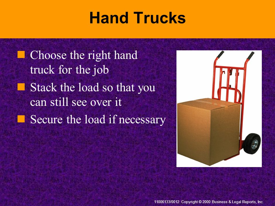 Hand Trucks Choose the right hand truck for the job