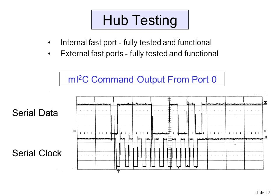 mI2C Command Output From Port 0