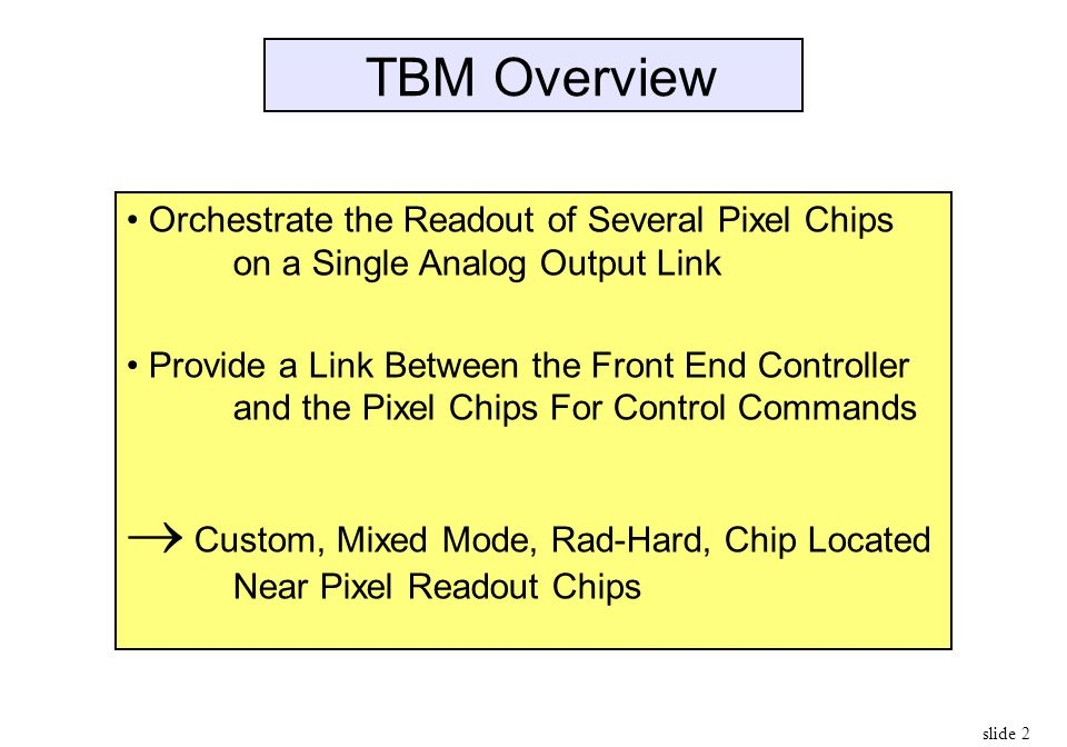  Custom, Mixed Mode, Rad-Hard, Chip Located Near Pixel Readout Chips