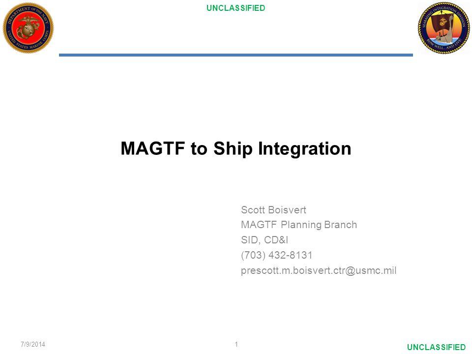 MAGTF to Ship Integration