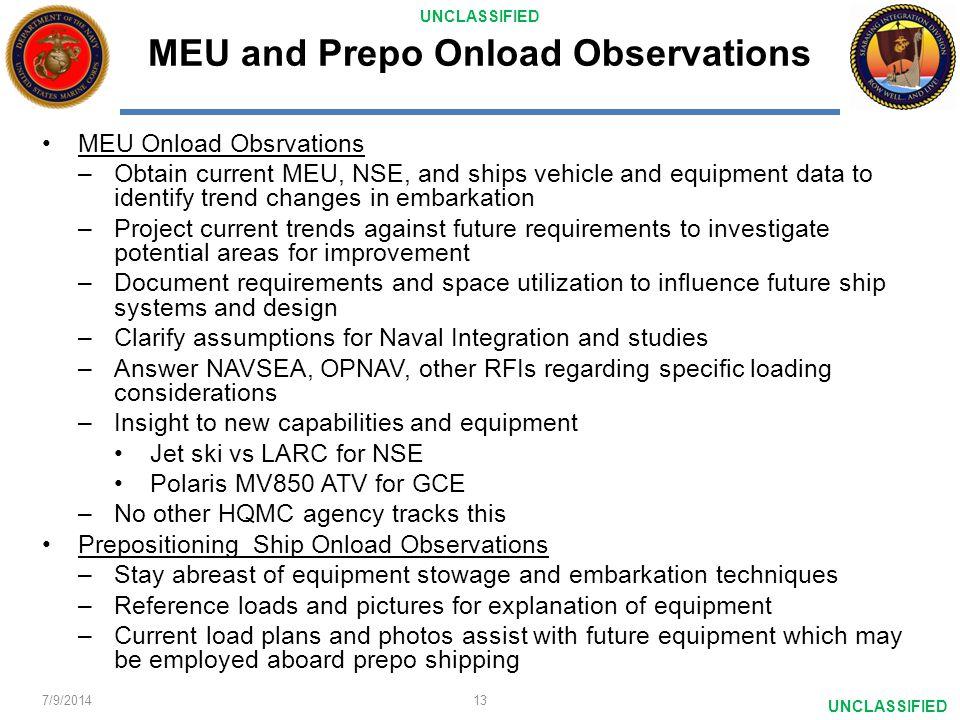 MEU and Prepo Onload Observations