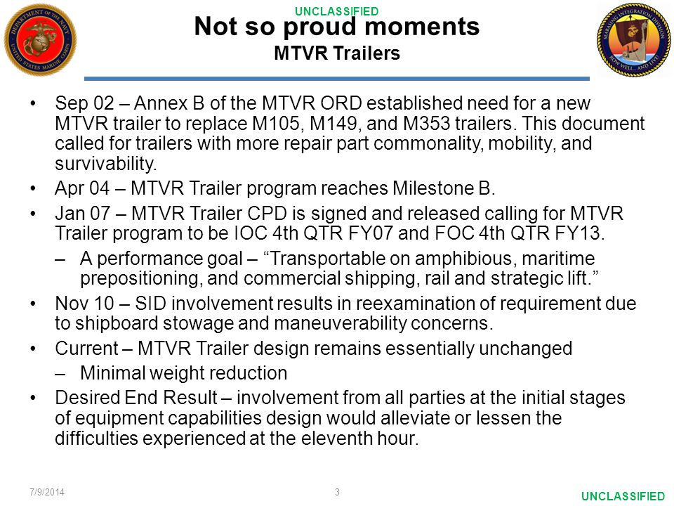 Not so proud moments MTVR Trailers