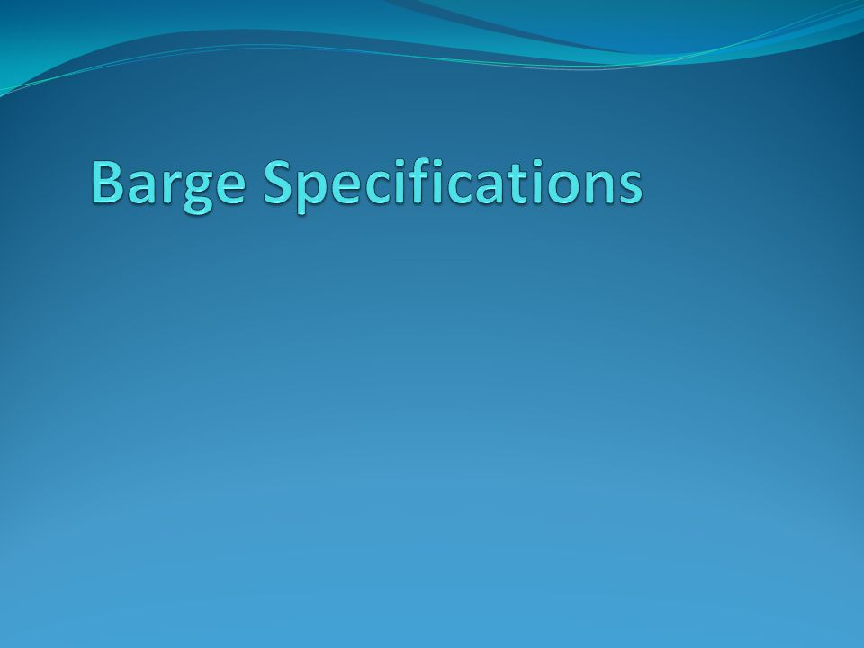 Barge Specifications