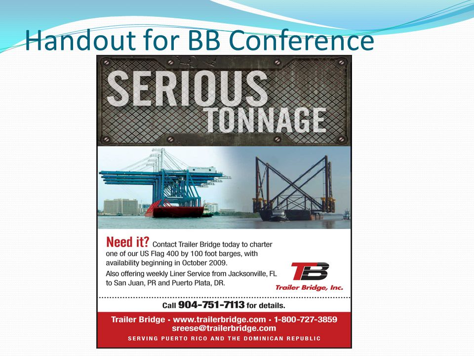 Handout for BB Conference