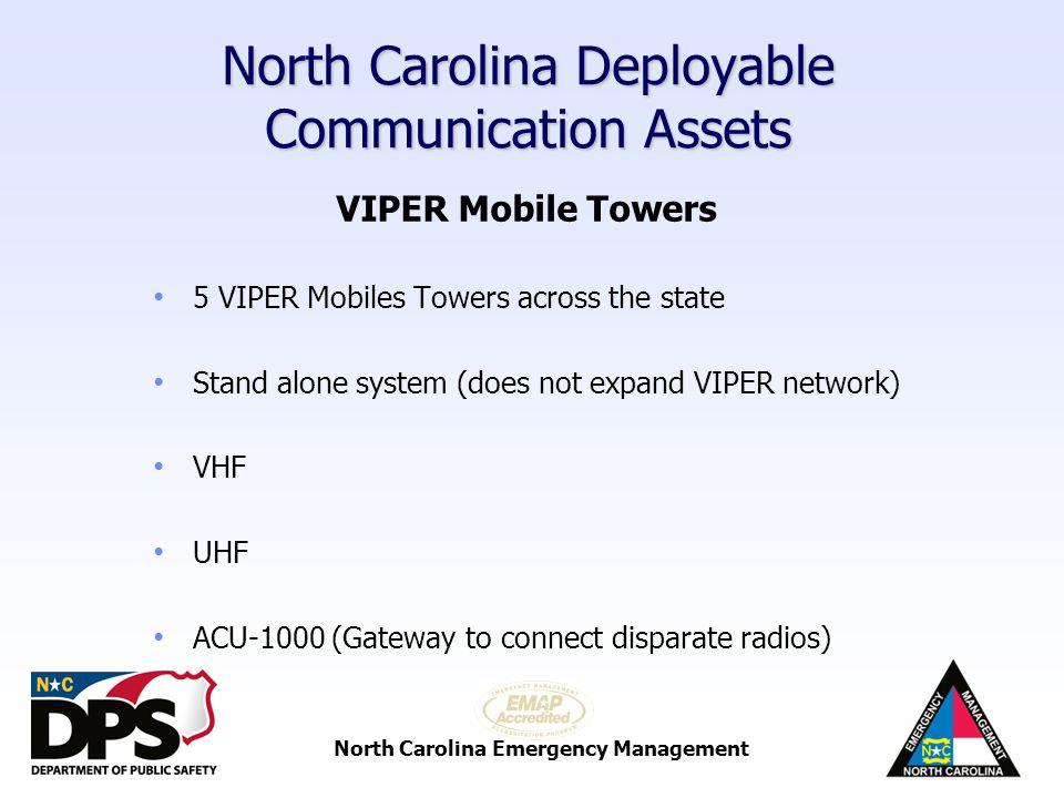 North Carolina Deployable Communication Assets