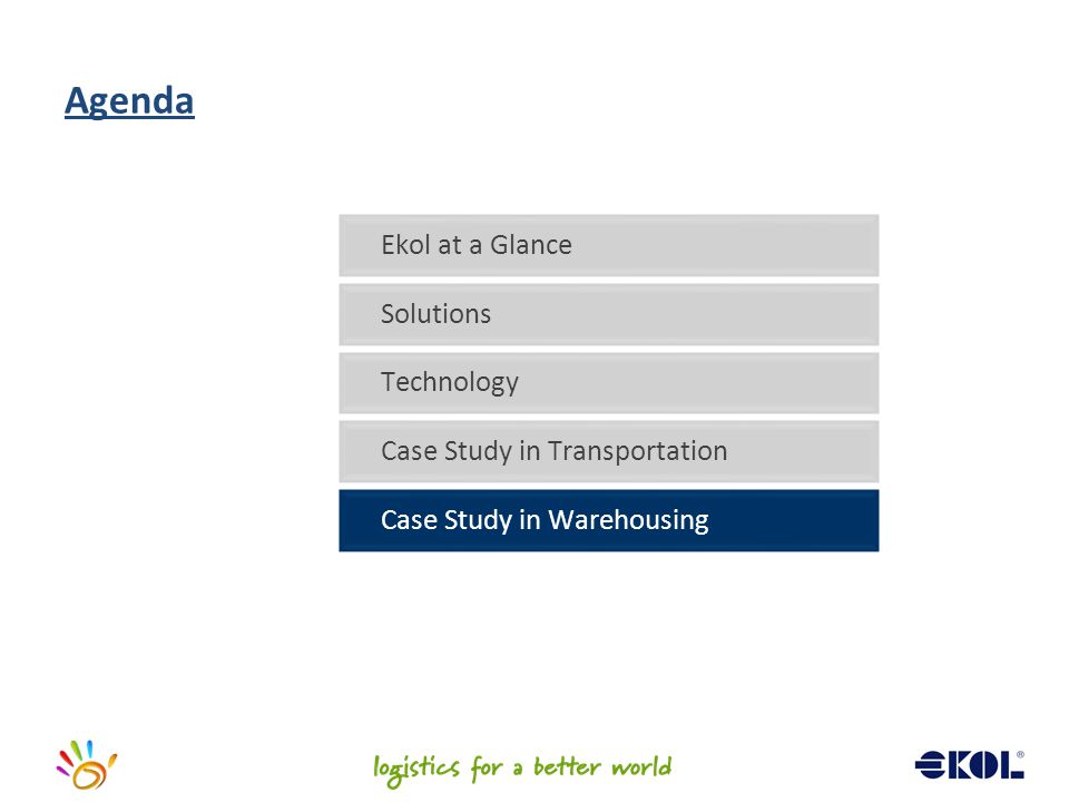 Agenda Ekol at a Glance Solutions Technology