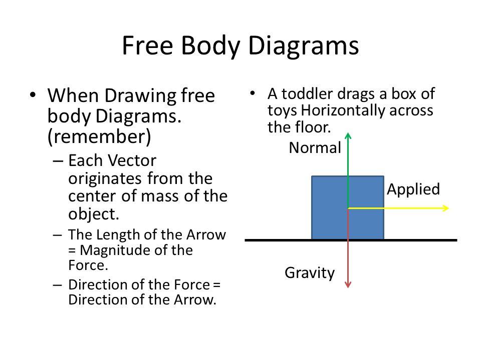 Free Body Diagrams When Drawing free body Diagrams. (remember)