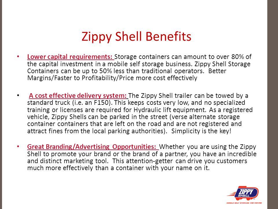 Zippy Shell Benefits