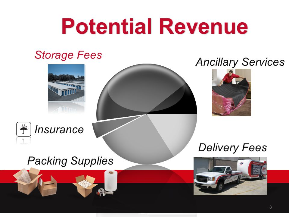 Potential Revenue Storage Fees Ancillary Services Insurance