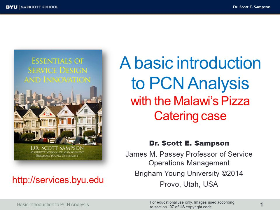 A basic introduction to PCN Analysis with the Malawi's Pizza Catering case