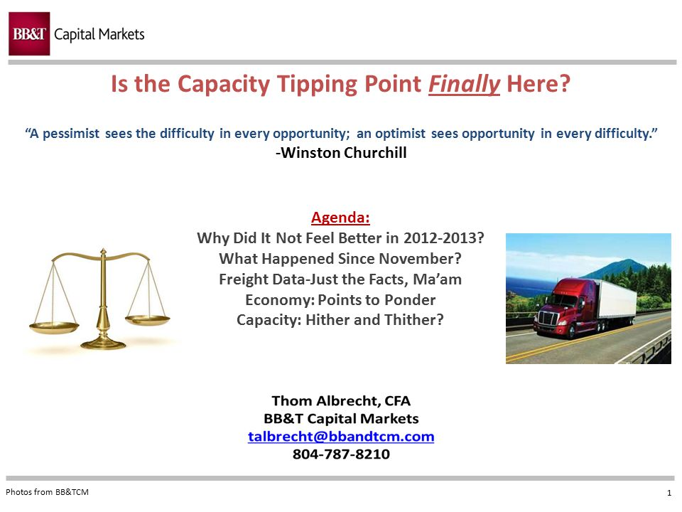 Is the Capacity Tipping Point Finally Here