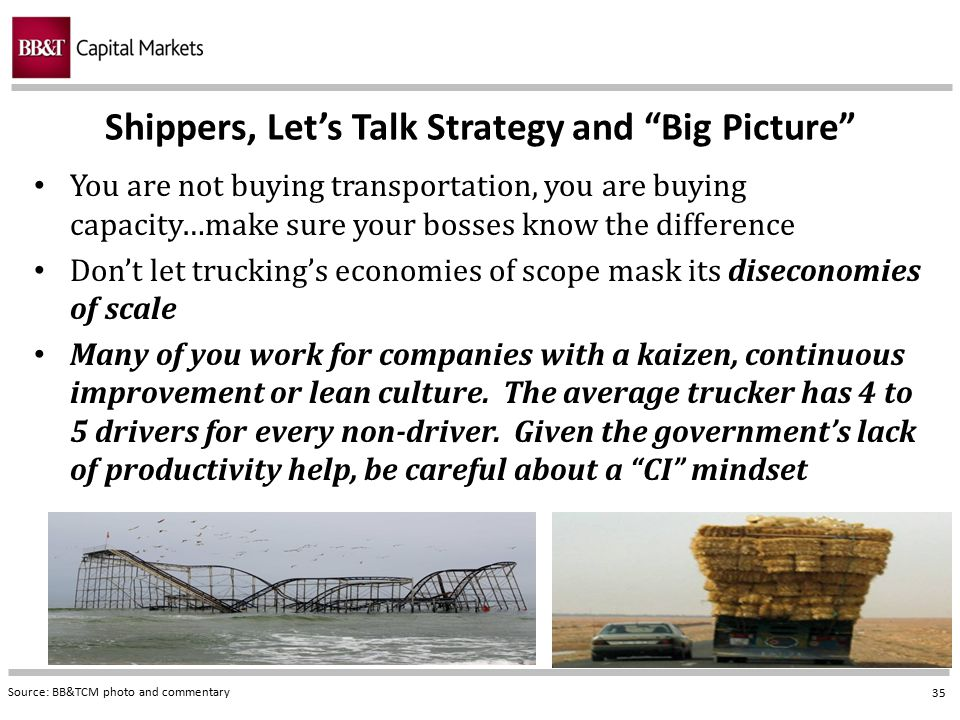 Shippers, Let's Talk Strategy and Big Picture
