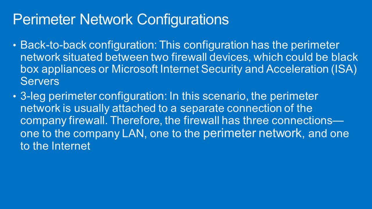 Perimeter Network Configurations