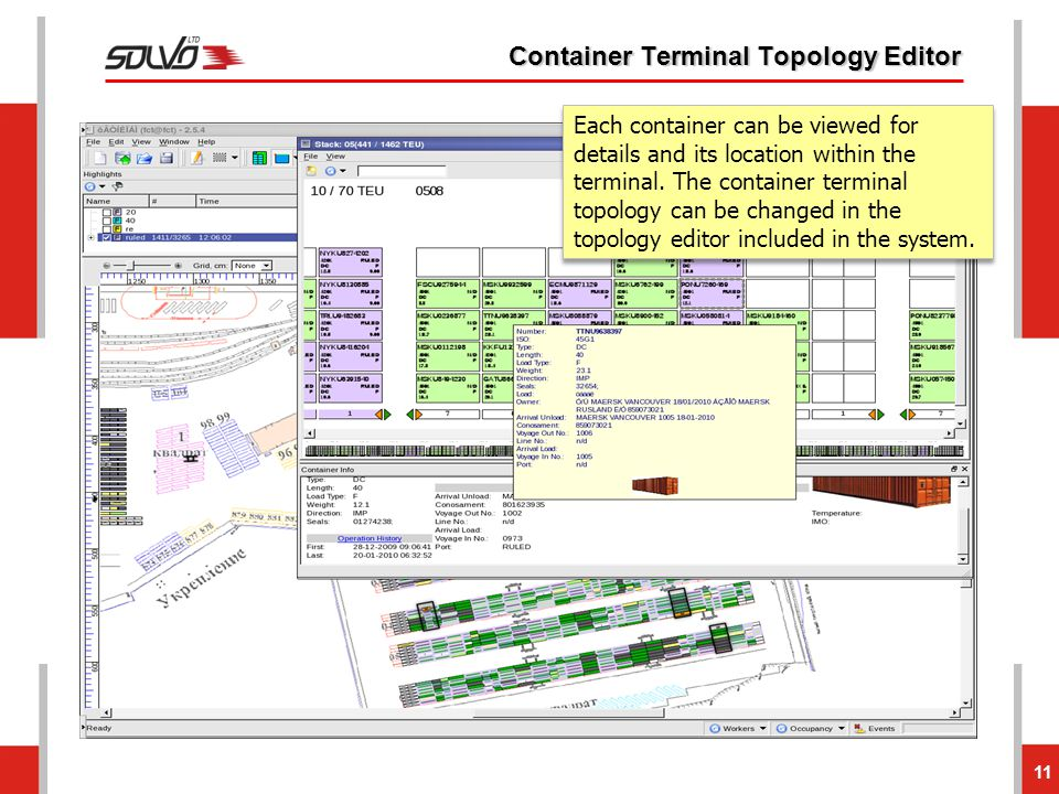 Container Terminal Topology Editor