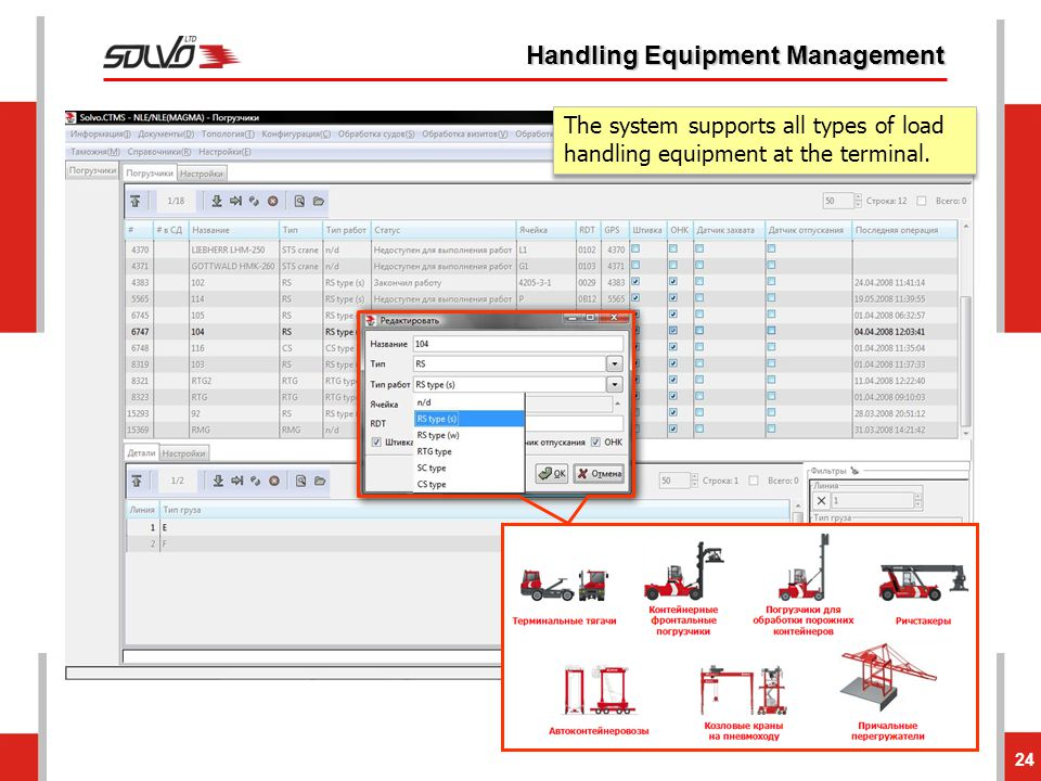 Handling Equipment Management