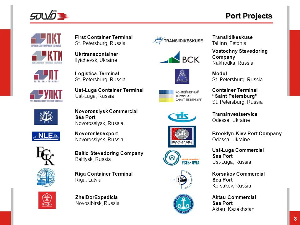 Port Projects First Container Terminal St. Petersburg, Russia