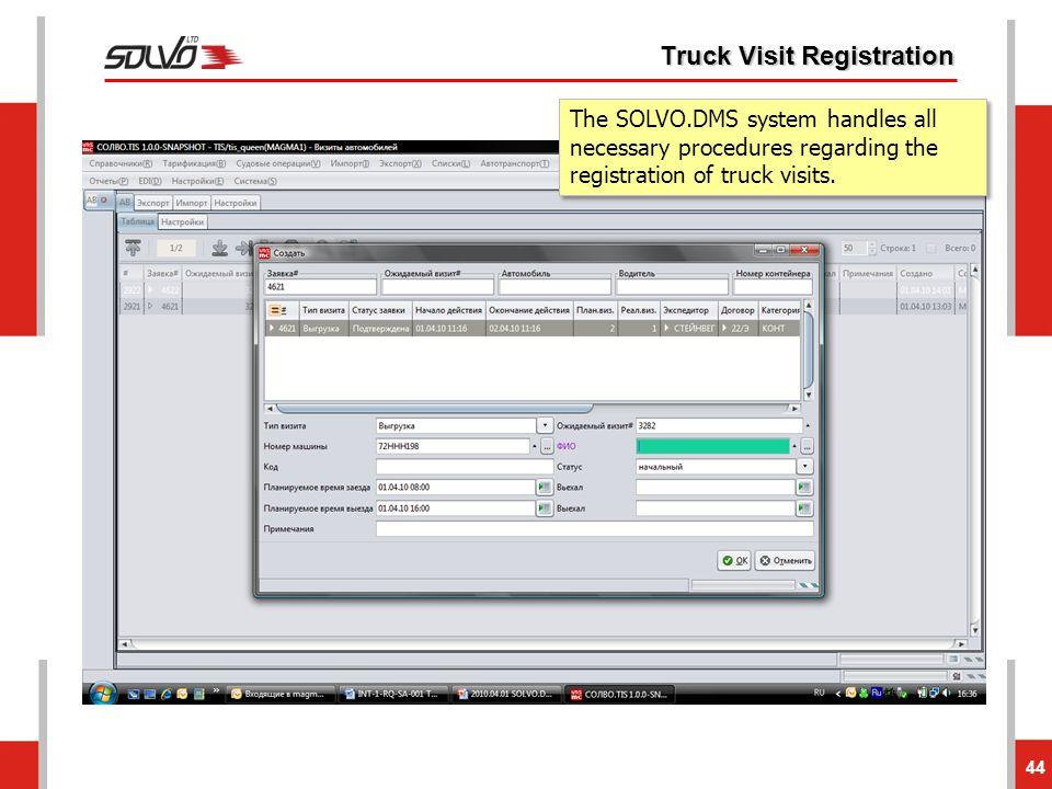 Truck Visit Registration