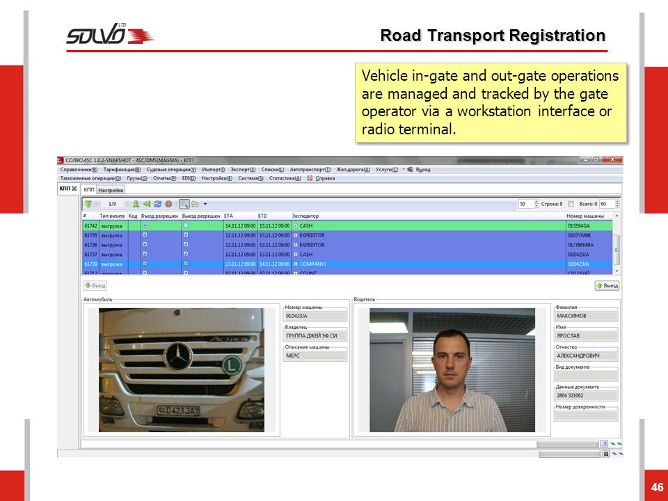 Road Transport Registration