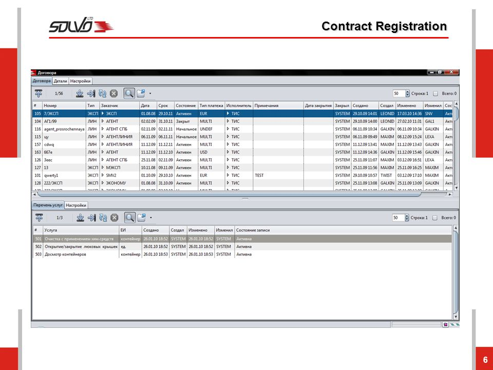 Contract Registration