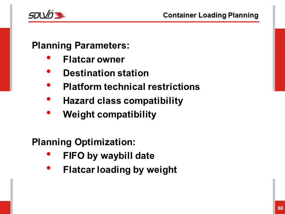 Container Loading Planning