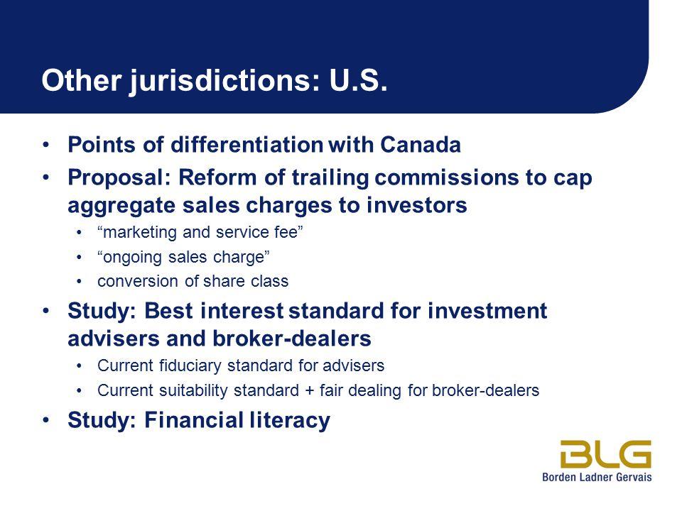 Other jurisdictions: U.S.