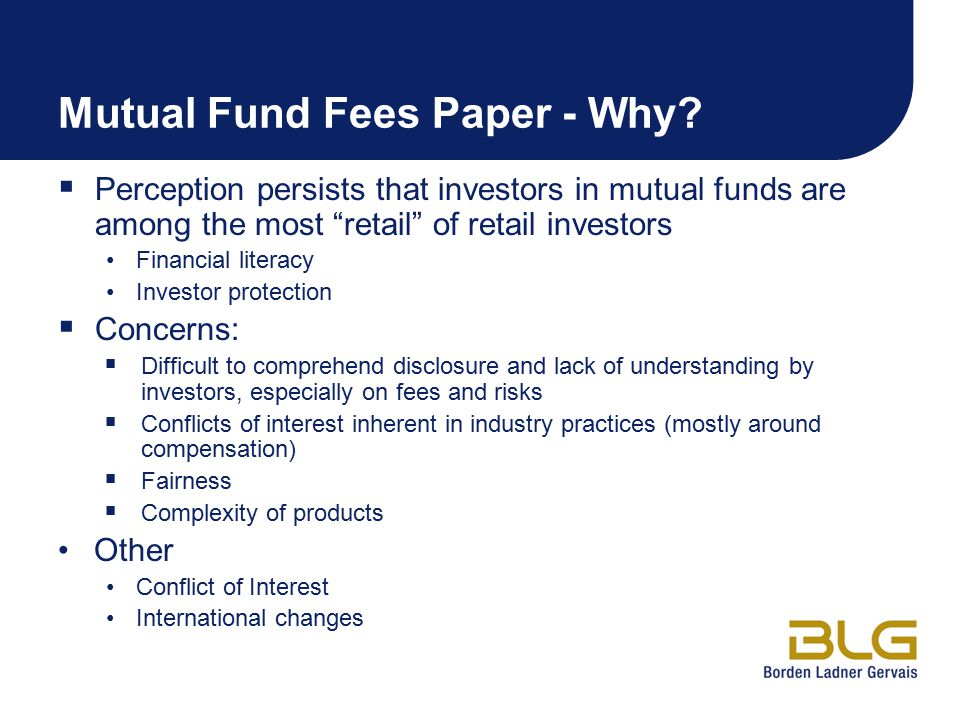 Mutual Fund Fees Paper - Why
