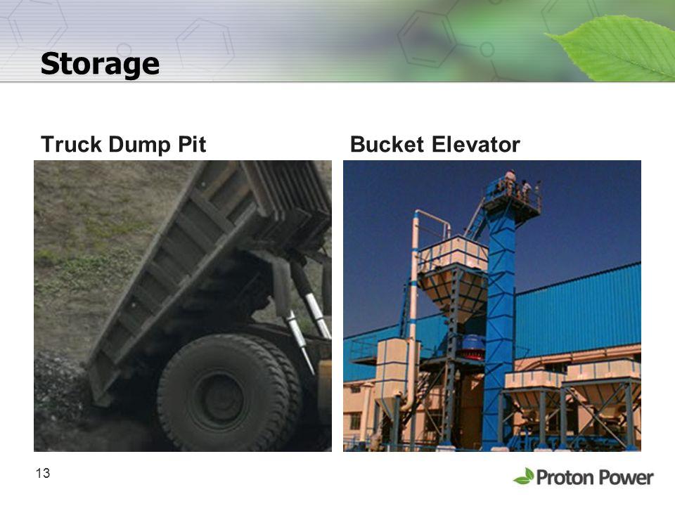 Storage Truck Dump Pit Bucket Elevator