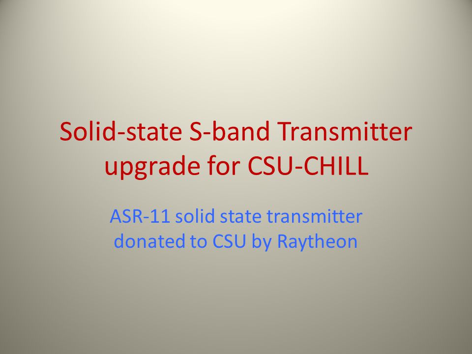 Solid-state S-band Transmitter upgrade for CSU-CHILL