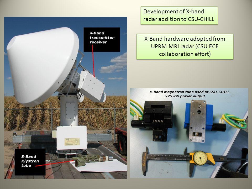 Development of X-band radar addition to CSU-CHILL.