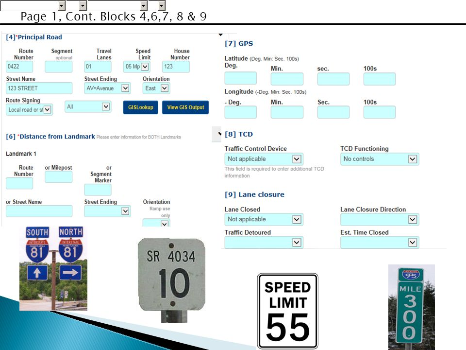 Page 1, Cont. Blocks 4,6,7, 8 & 9