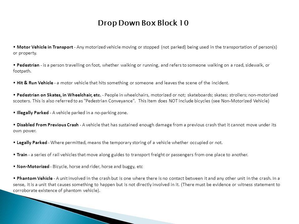 Drop Down Box Block 10