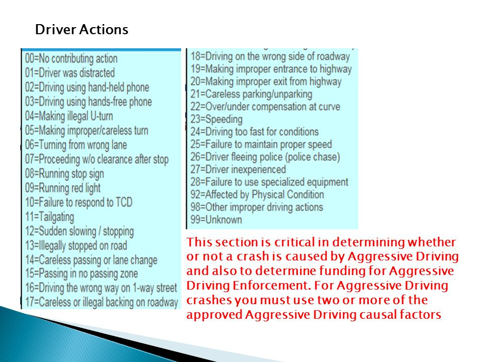 Driver Actions