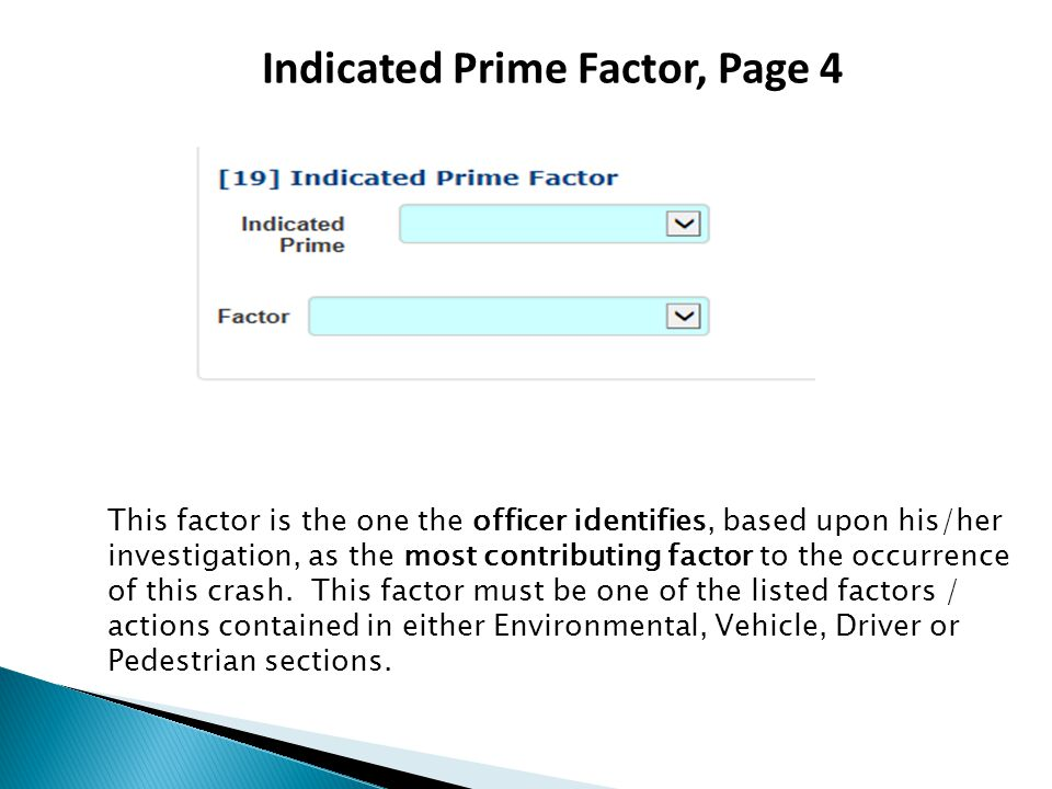 Indicated Prime Factor, Page 4