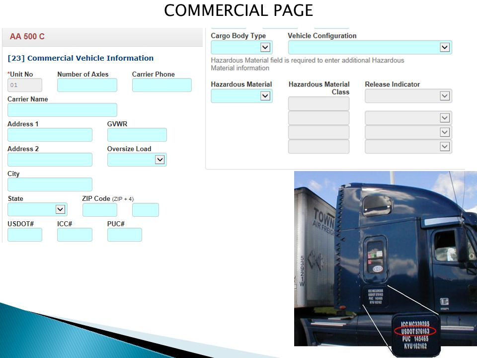 COMMERCIAL PAGE