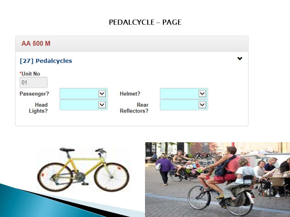 PEDALCYCLE - PAGE