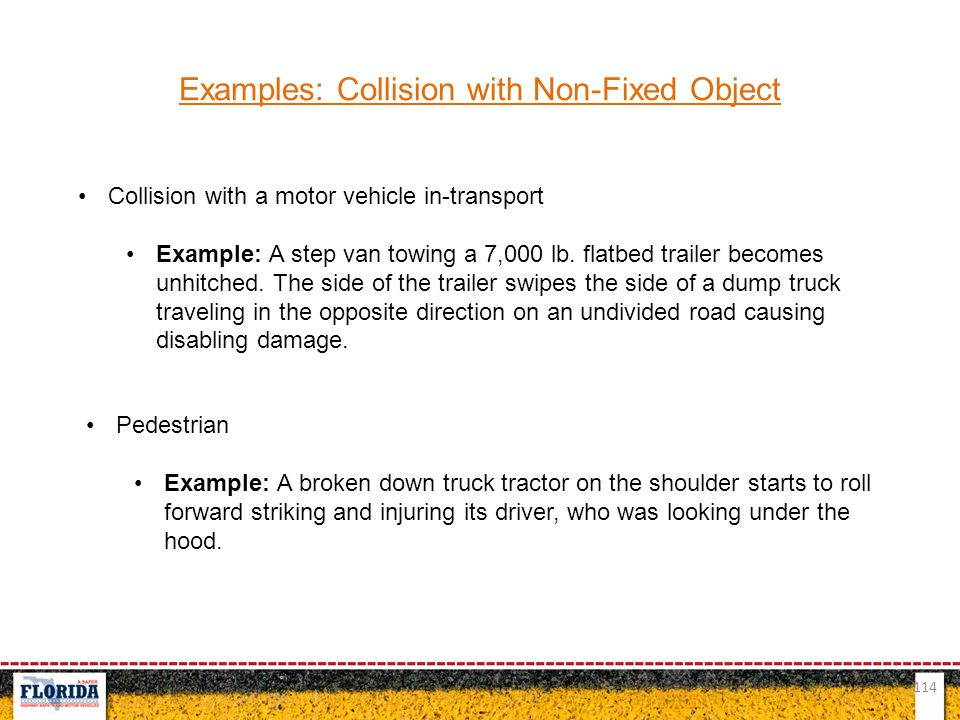 Examples: Collision with Non-Fixed Object
