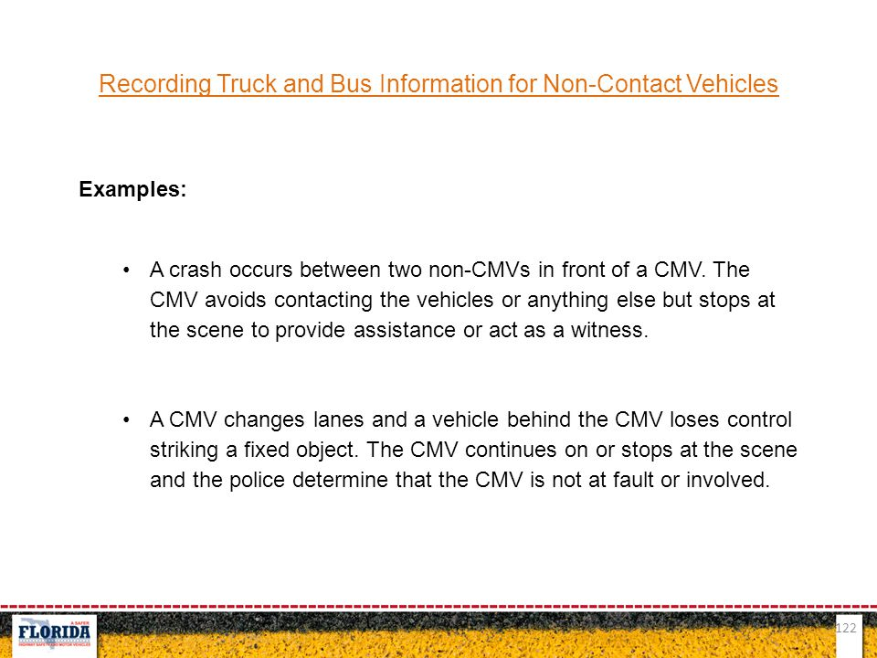 Recording Truck and Bus Information for Non-Contact Vehicles