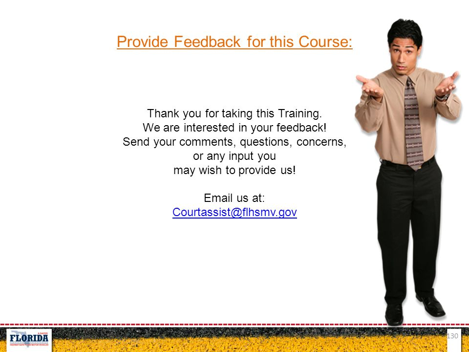 Provide Feedback for this Course: