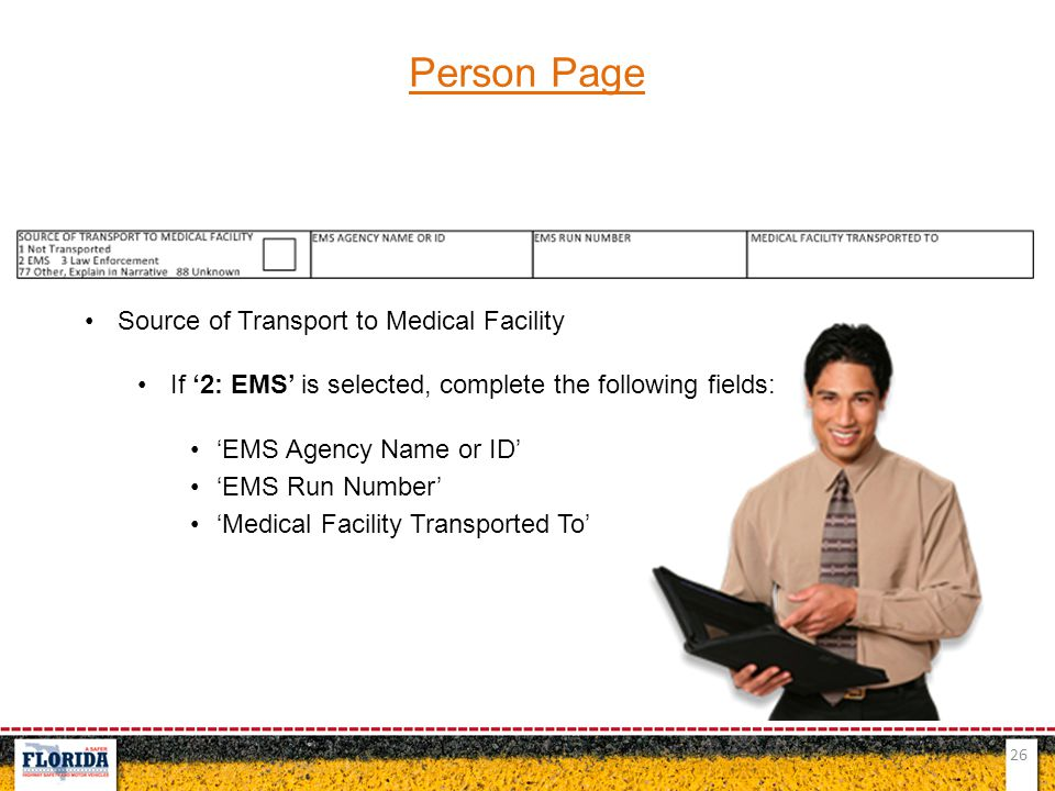 Person Page Source of Transport to Medical Facility